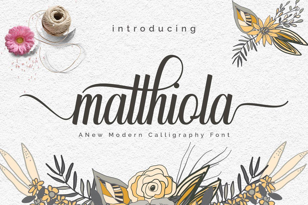 matthiola script example image 1