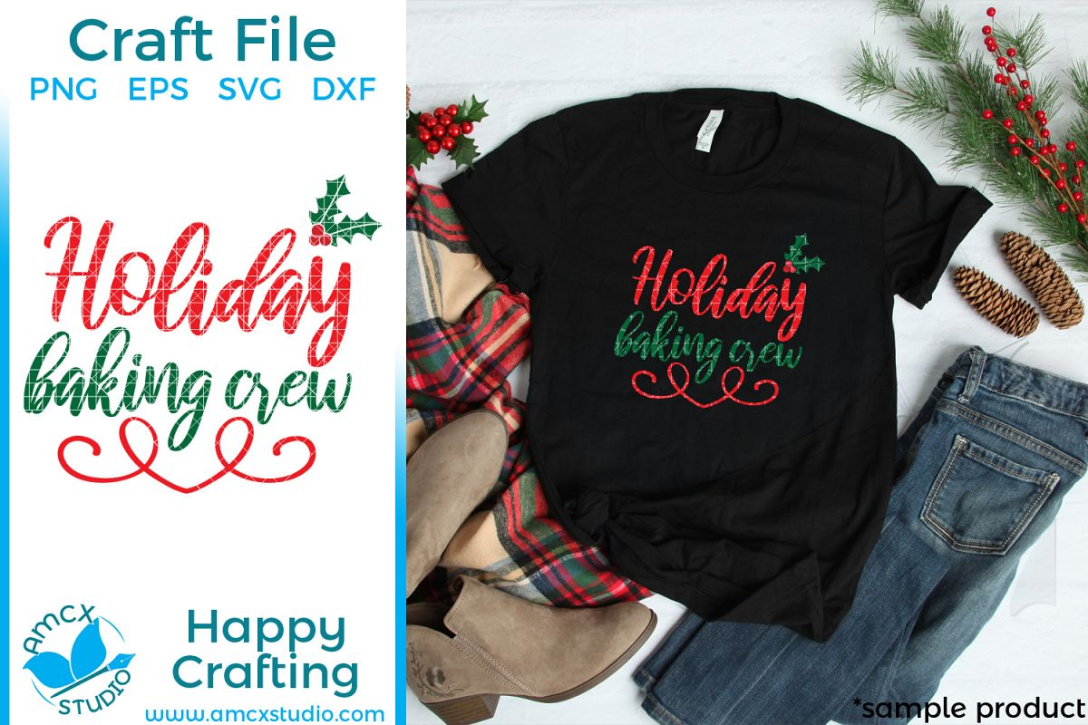 Holiday Baking Crew Christmas SVG example image 1