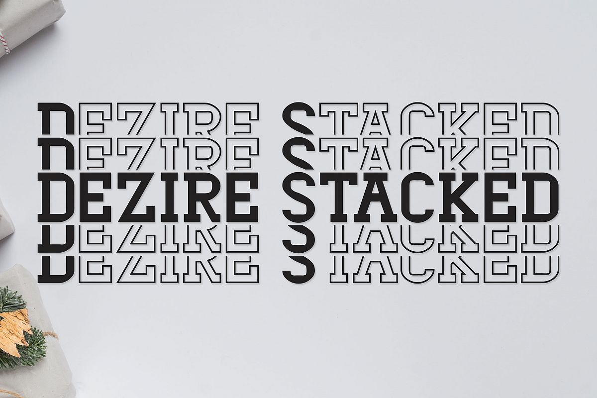 Dezire Stacked - Mirrored Font example image 1