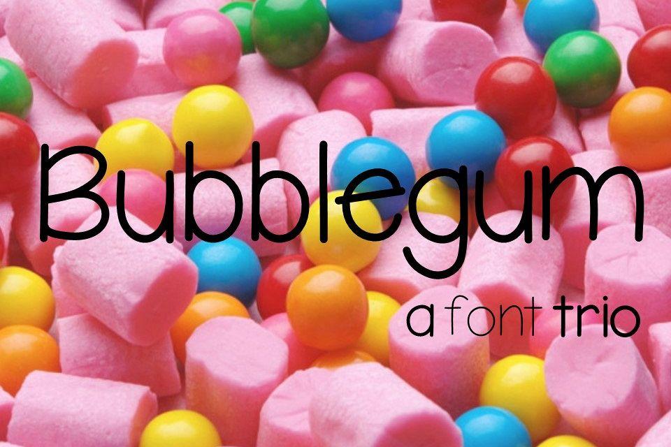 Bubblegum Font Trio example image 1