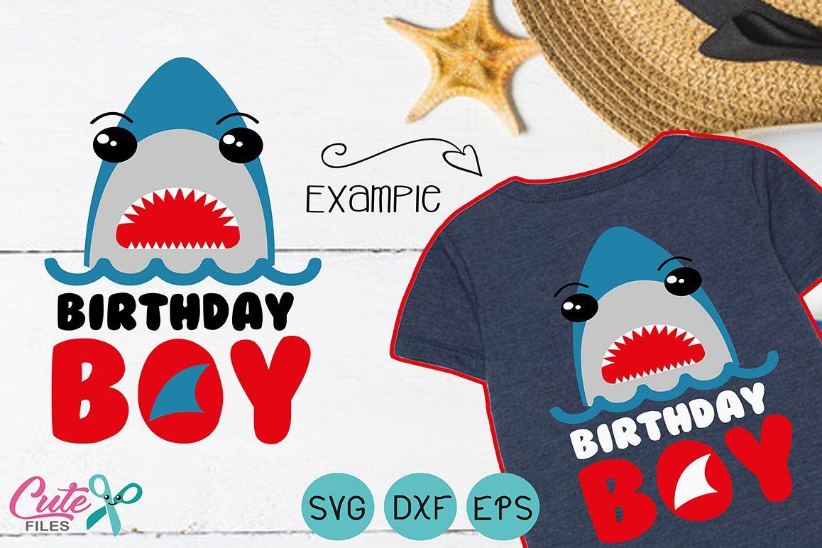 Shark face svg, Boys Birthday example image 1