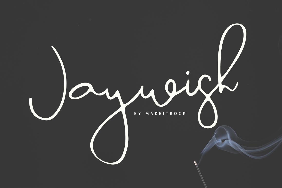 Jaywish | A classy script example image 1