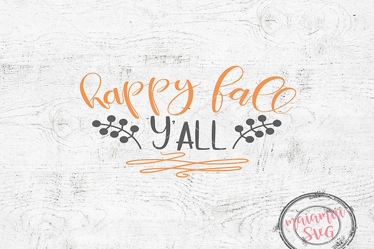 Happy Fall Yall Svg, Fall Svg, Thanksgiving Svg, Wood Sign example image 1