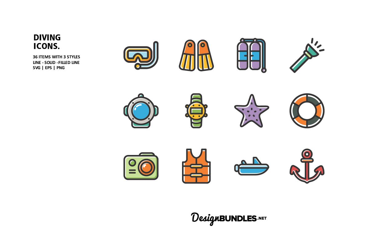 Diving Icons example image 1