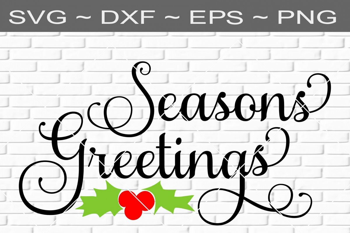 Seasons Greetings Christmas V2 Design Svg