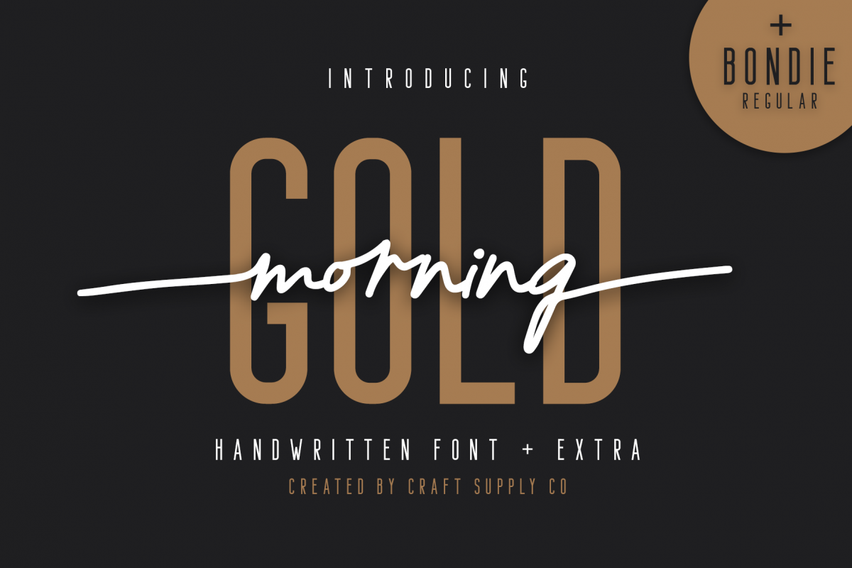 Morning Gold - Handwritten Font example image 1