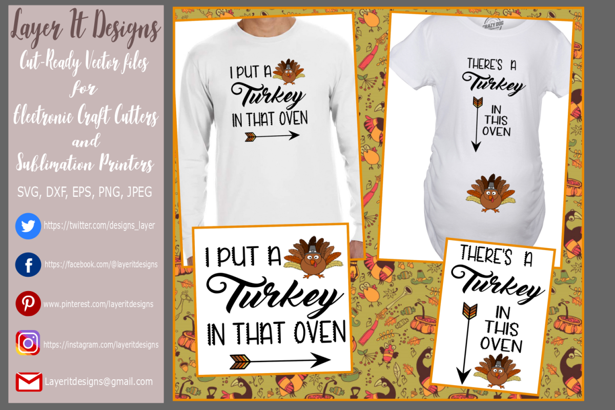 Thanksgiving Pregnancy T shirt Designs example image 1