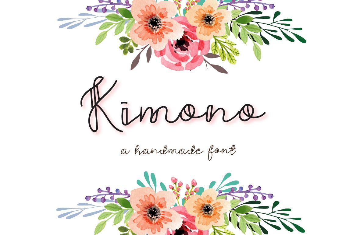 Kimono - A decorative font example image 1