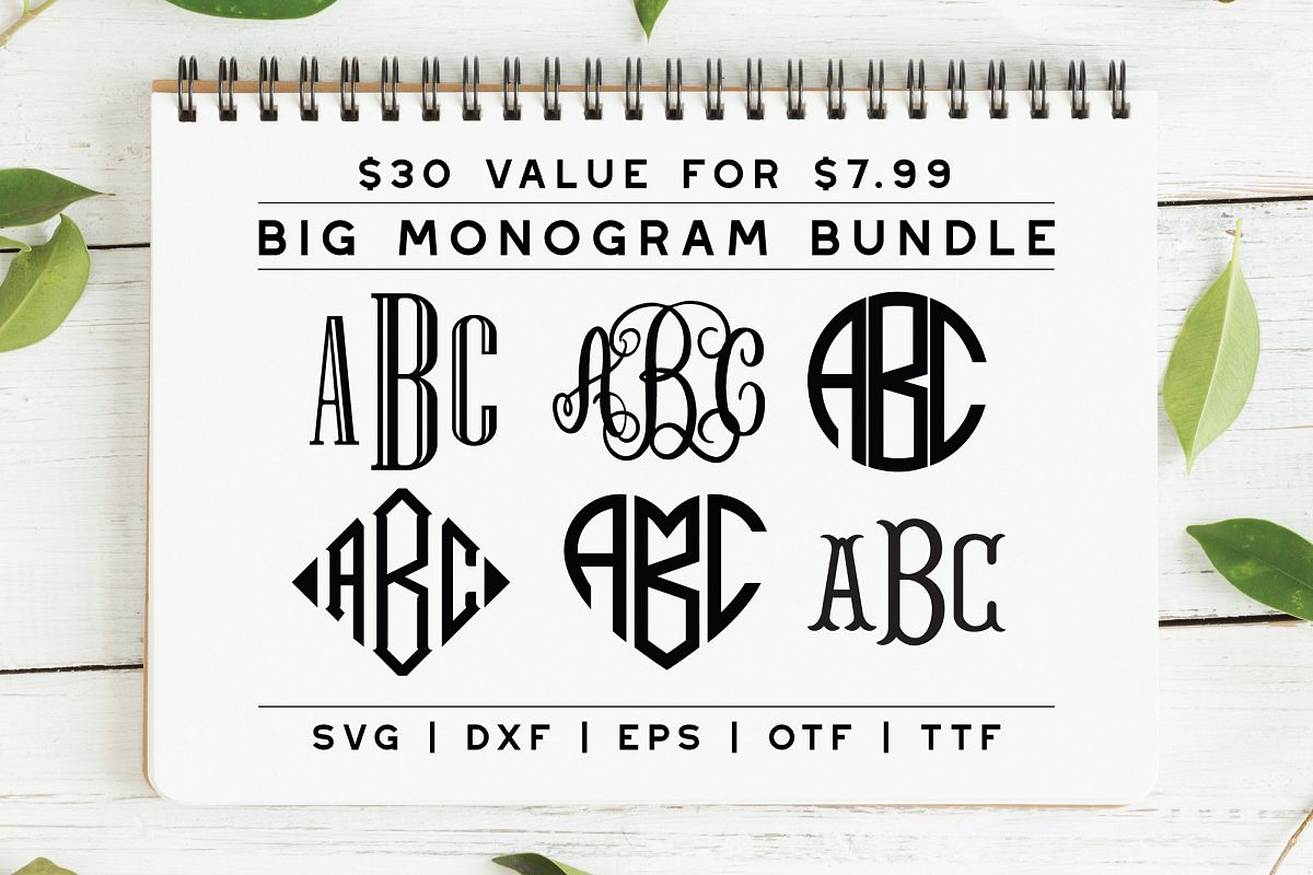 BIG Monogram Font Bundle | The Ultimate Bundle! example image 1