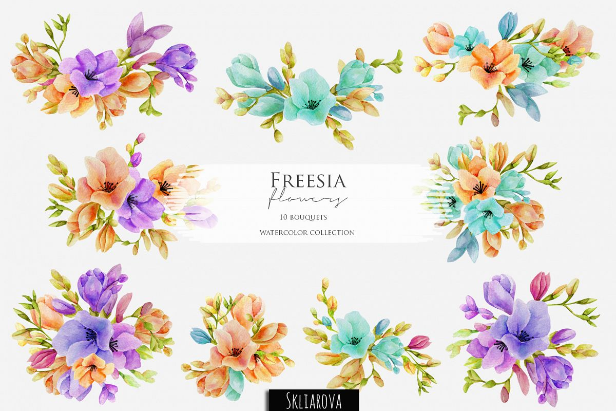 Freesia. 10 bouquets example image 1