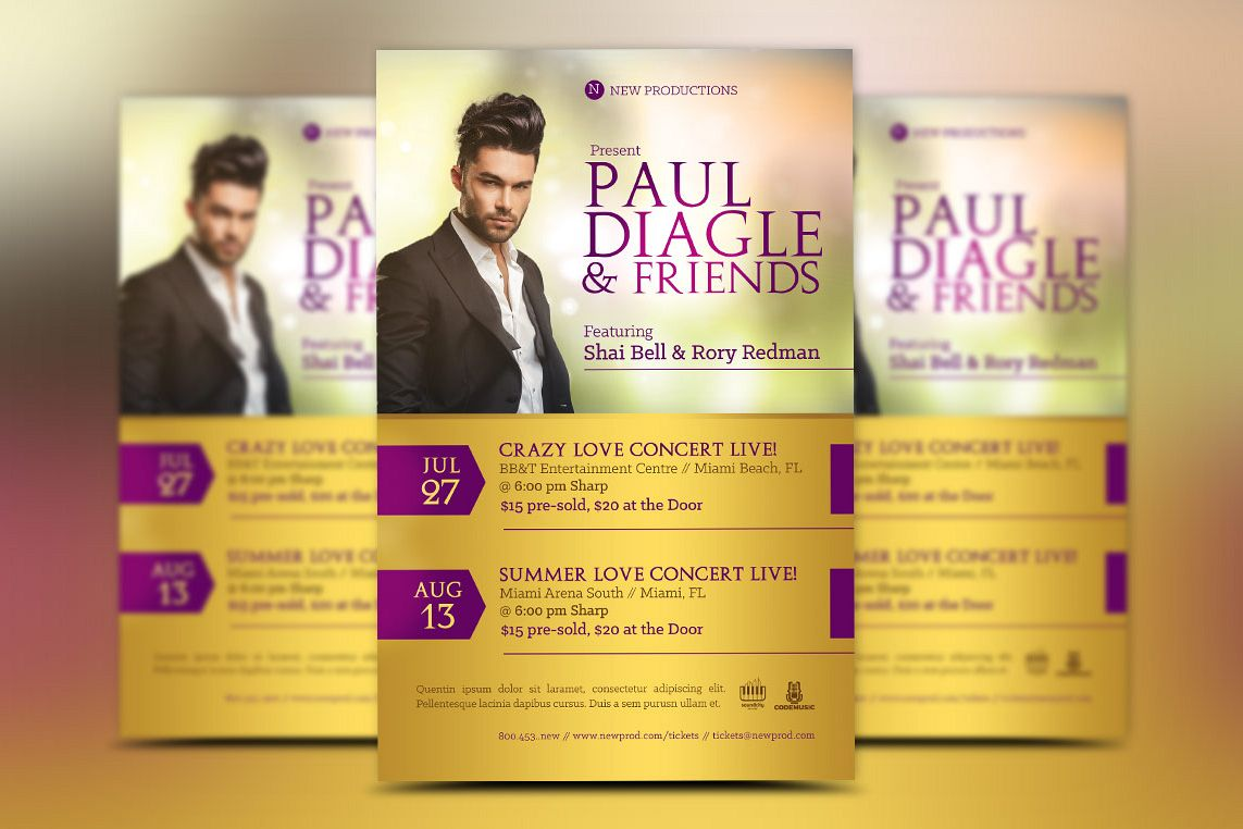 Concert Flyer Template  example image 1