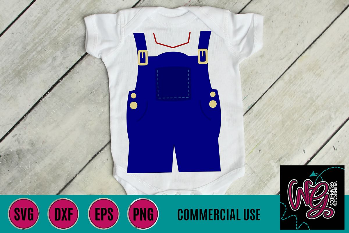 Farm Overalls SVG DXF PNG EPS Commercial example image 1