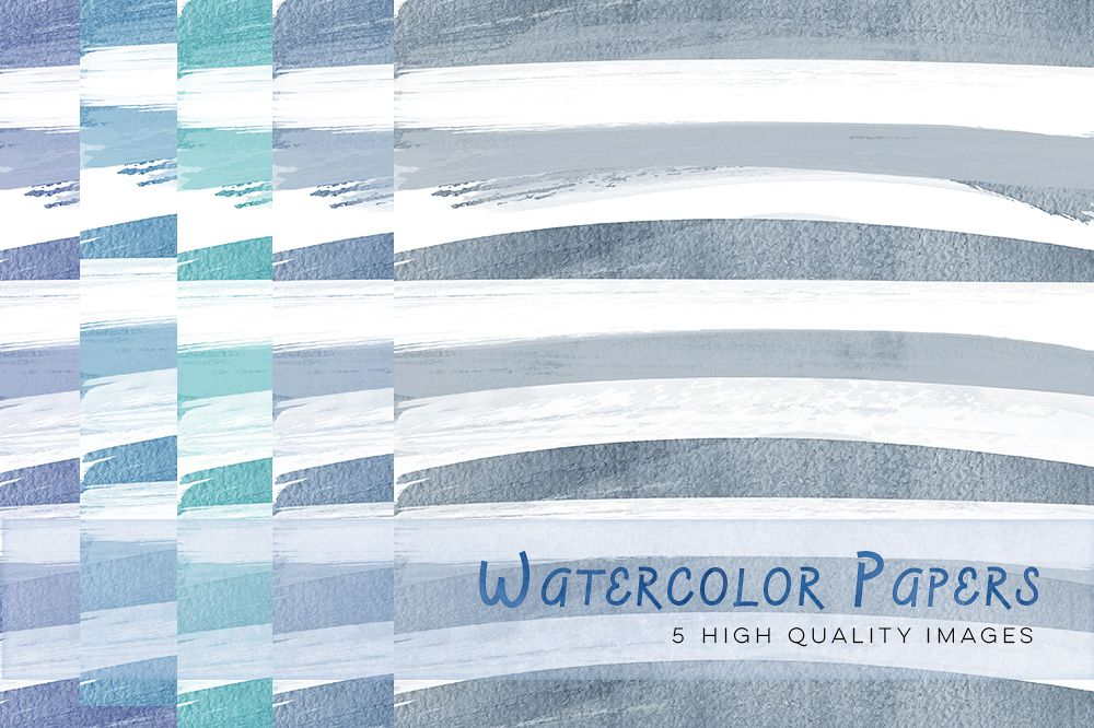 Blue Watercolour Papers, Purple digital paper watercolor pastel, wedding watercolor paper, invitation background, watercolour stripes paper example image 1