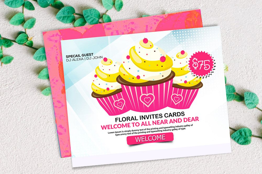 Ice cream Discount Card Template example image 1