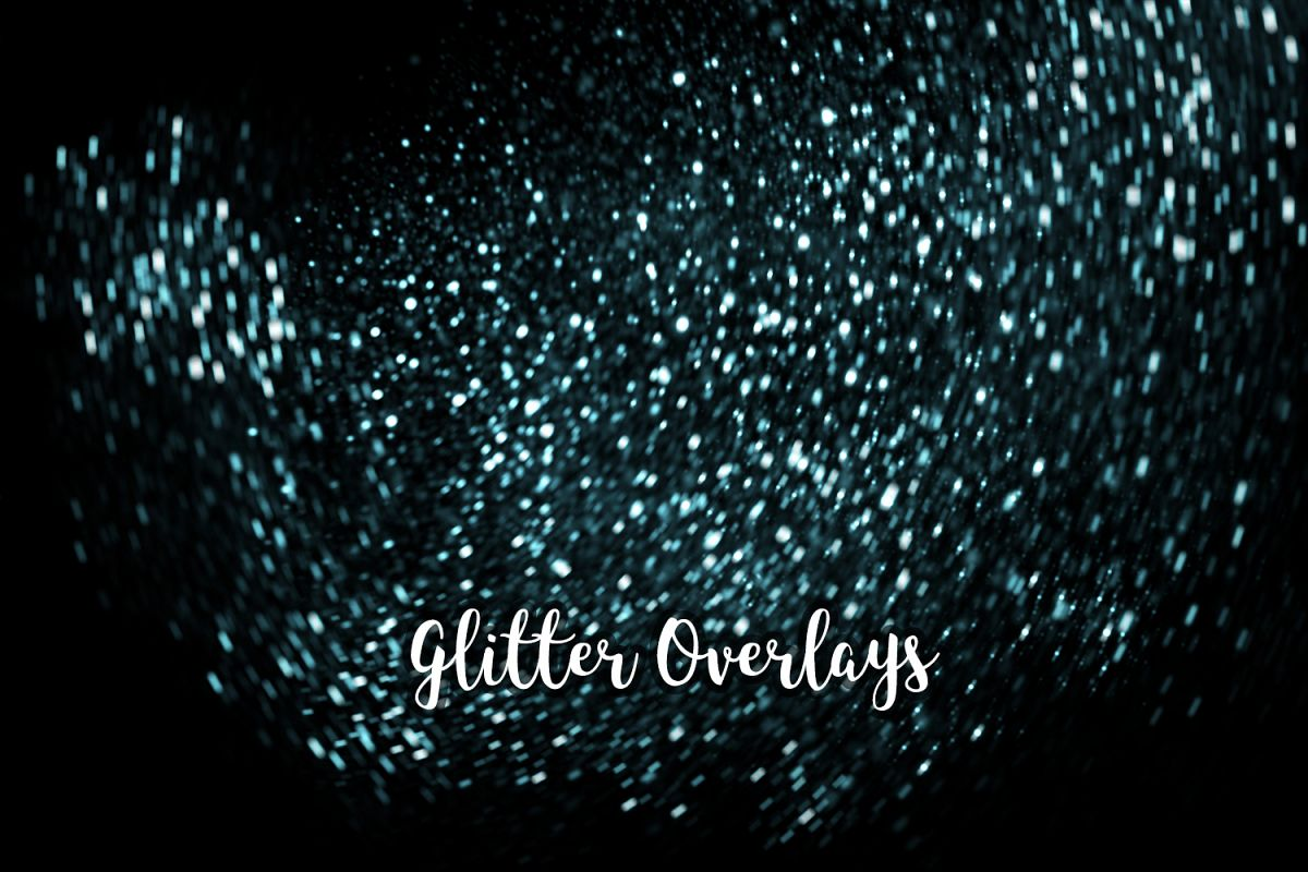 Glitter Dust Overlays, Glitter Bokeh Texture Overlays example image 1