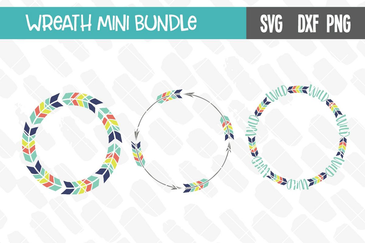 Monogram Wreath Mini Bundle example image 1