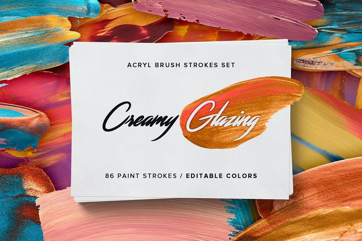 Creamy Glazing - Acryl Brush Strokes example image