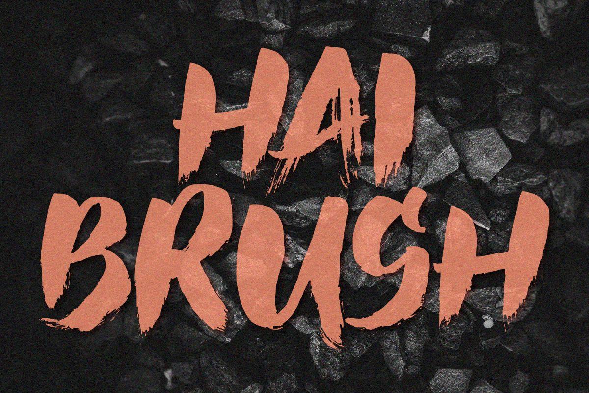Hai Brush Font example image 1