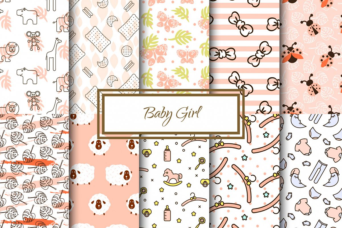 Baby Girl Cute Patterns example image 1