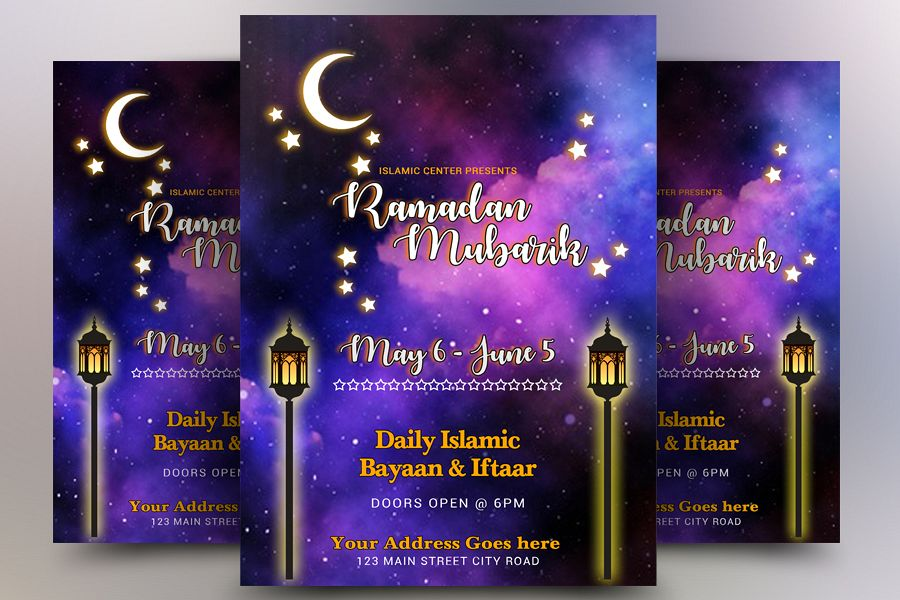 Ramadaan Mubarik Flyer example image 1
