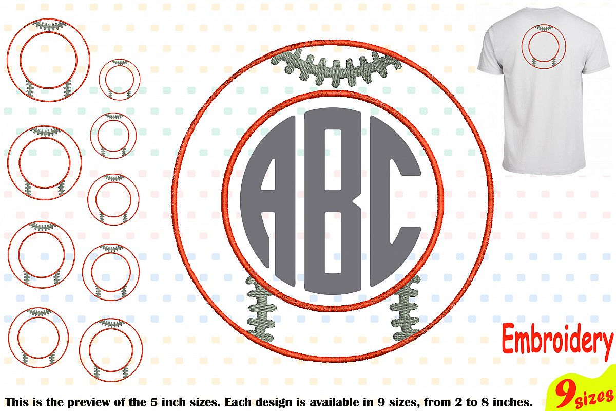 Baseball Circle Embroidery Design Machine Instant Download ...