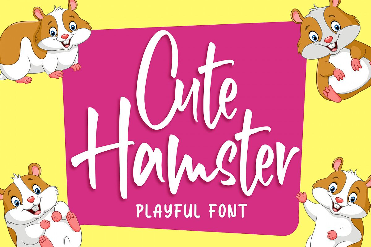 Cute Hamster - Playful Font example image 1