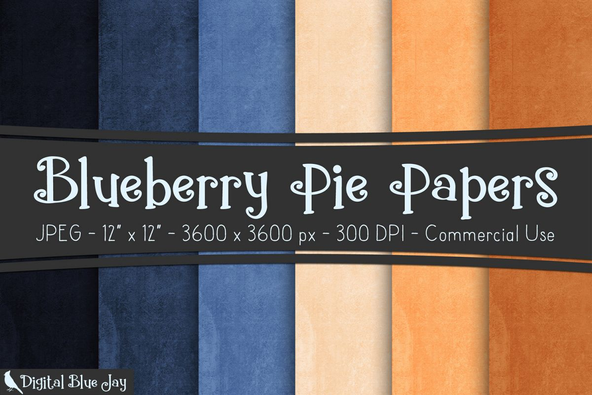 Digital Paper Textured Backgrounds - Blueberry Pie example image 1