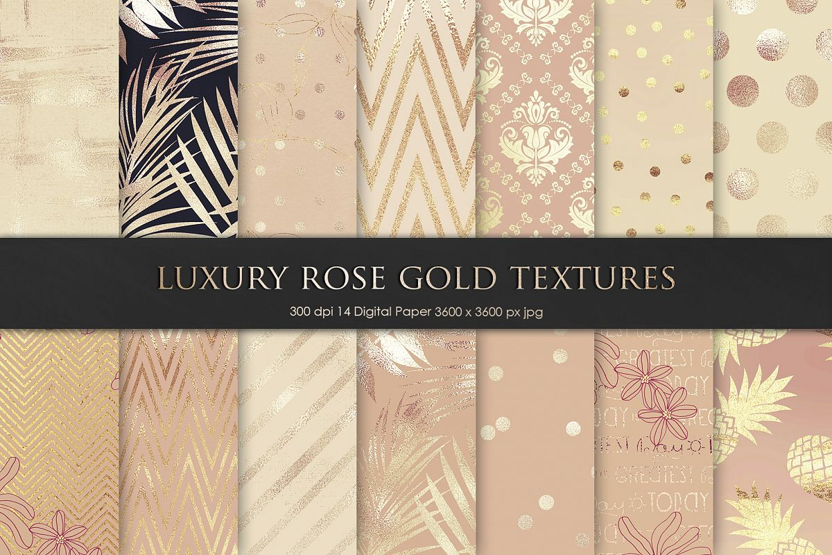 Luxury Rose, Gold, Bronze Textures example image 1