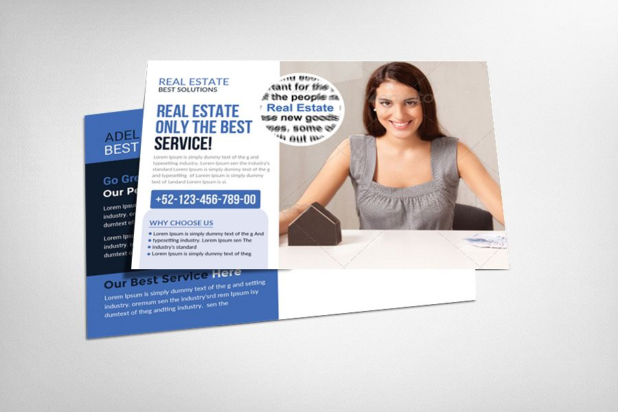 Real Estate Postcard Template example image 1