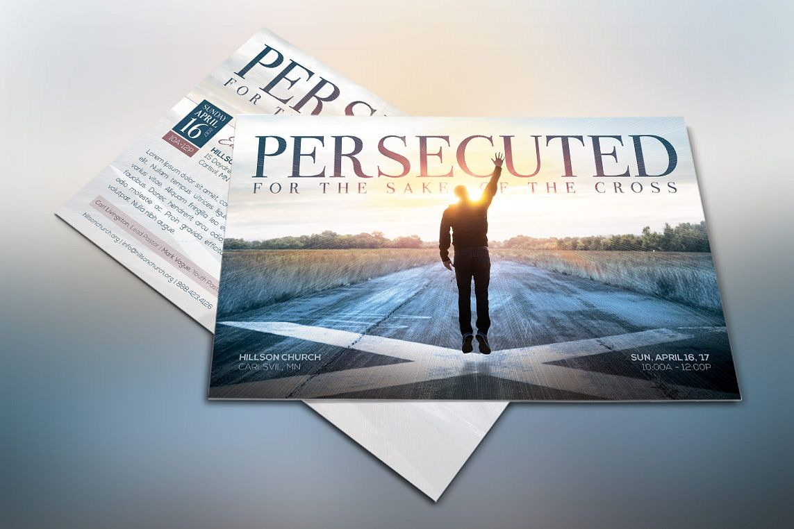 Persecuted Church Flyer Template example image 1