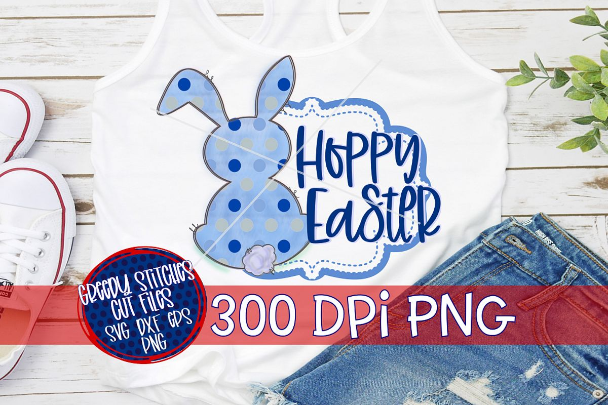 Easter PNG | Hoppy Easter PNG For Sublimation example image 1