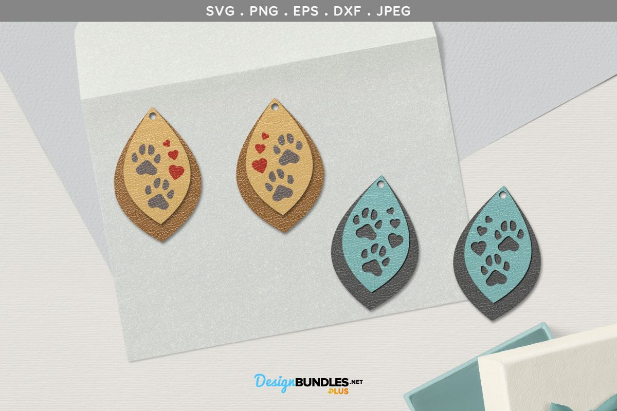 Paw Prints Earrings template example image 1