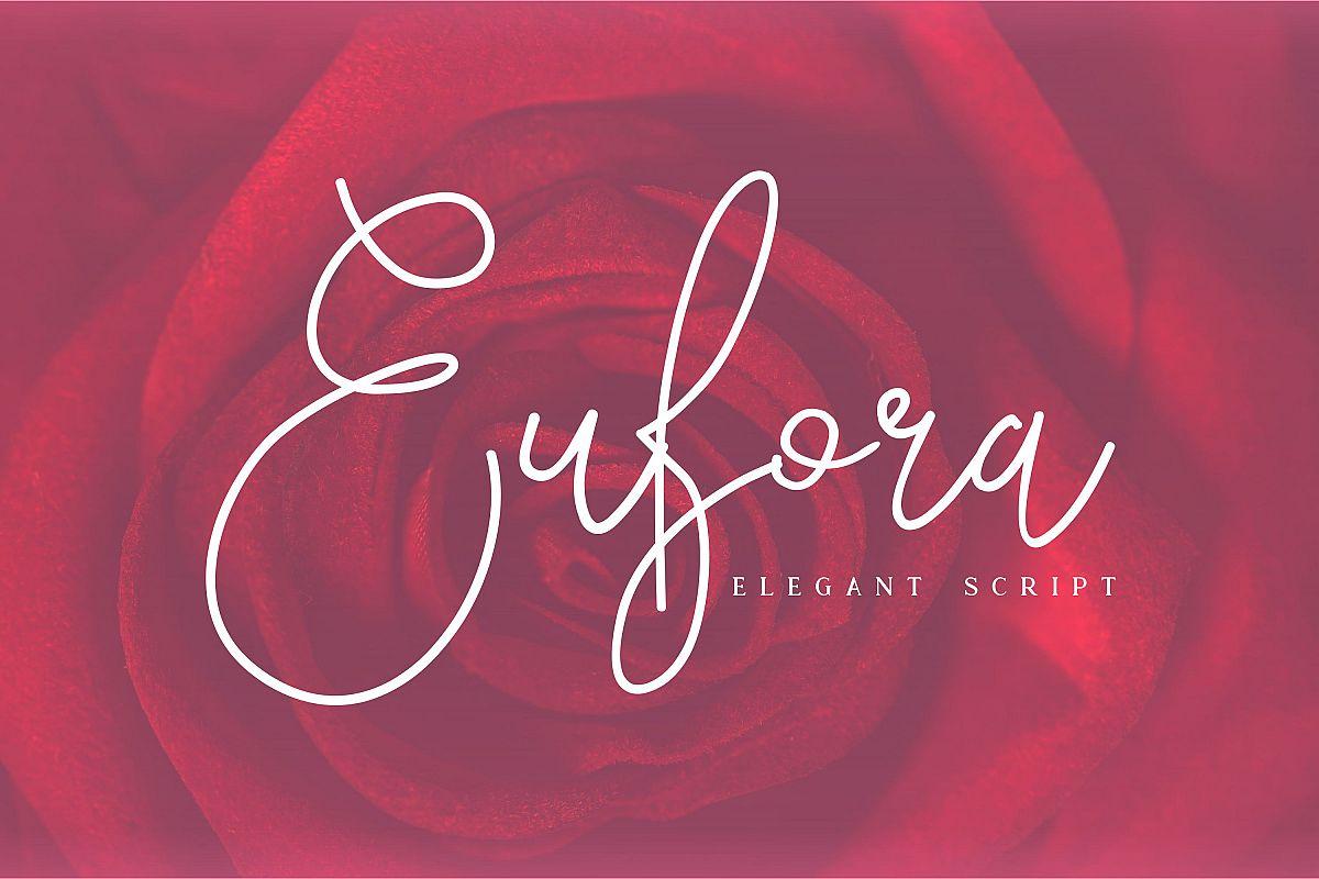 Eufora Elegant Script example image 1