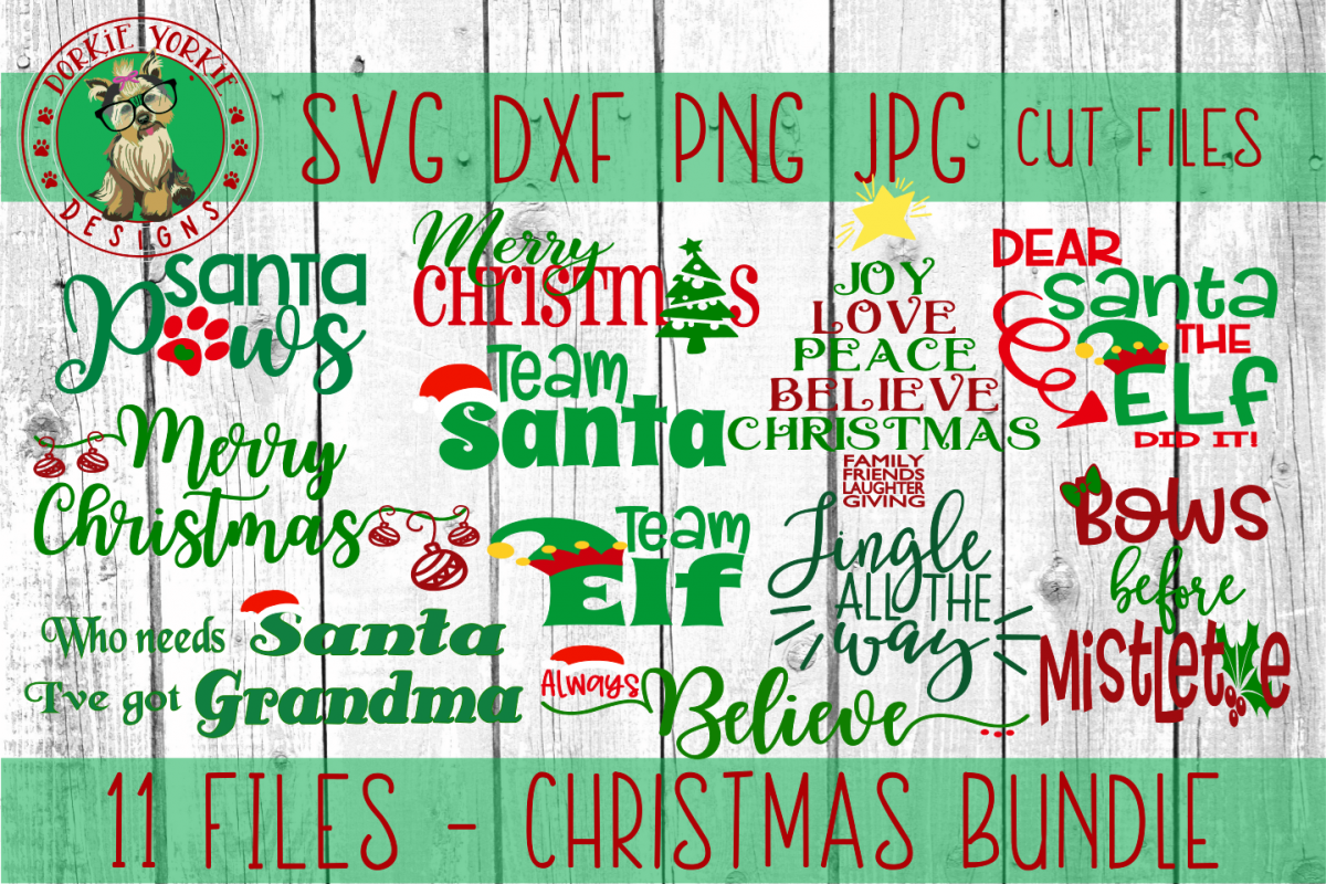 BIG Christmas Bundle - SVG cut files example image 1