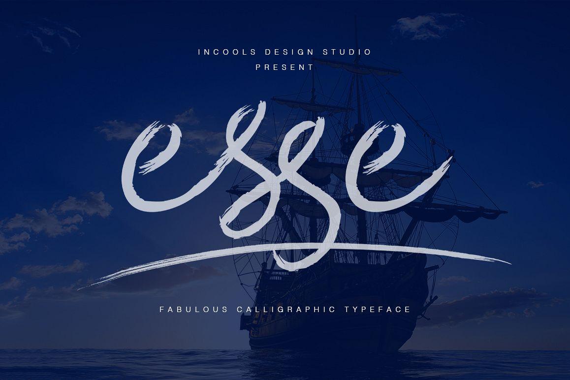 Esse Calligraphic Typeface example image 1