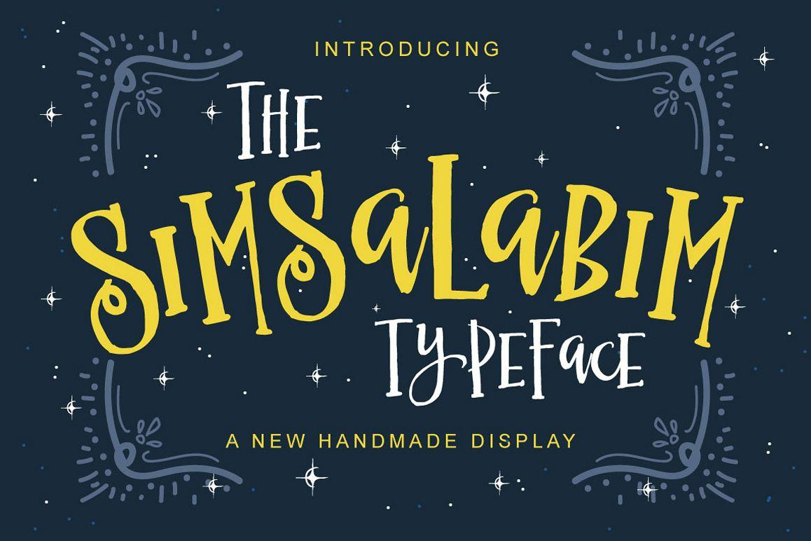 The Simsalabim Typeface example image 1