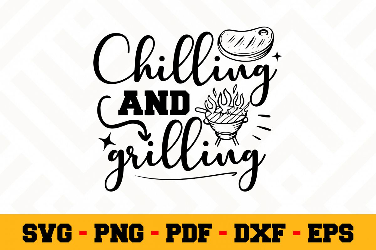 BBQ SVG Design n612 | Barbecue Grill SVG Cut File example image 1