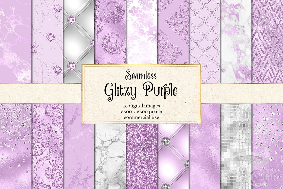 Glitzy Purple Digital Paper example image 1