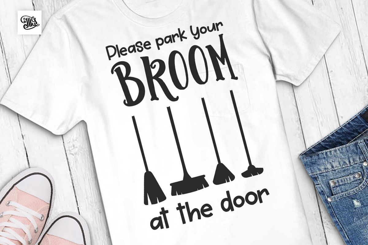 Please park your broom at the door example image 1