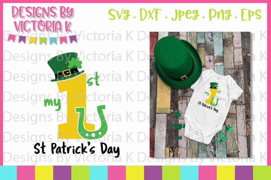 My 1st St Patrick's Day, SVG, DXF, PNG example image 1