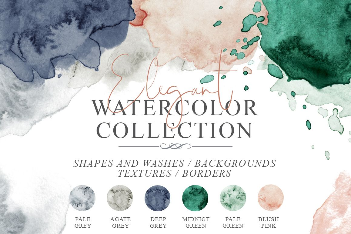 Elegant Watercolor Backgrounds example image 1
