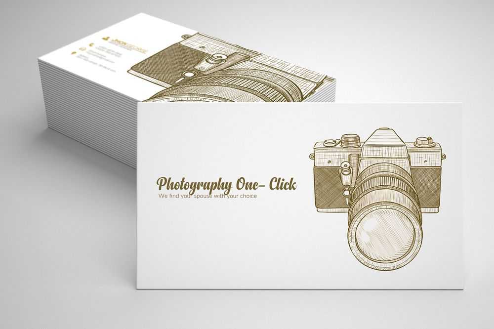 Vintage retro photography business card design bundles vintage retro photography business cards example image reheart Choice Image