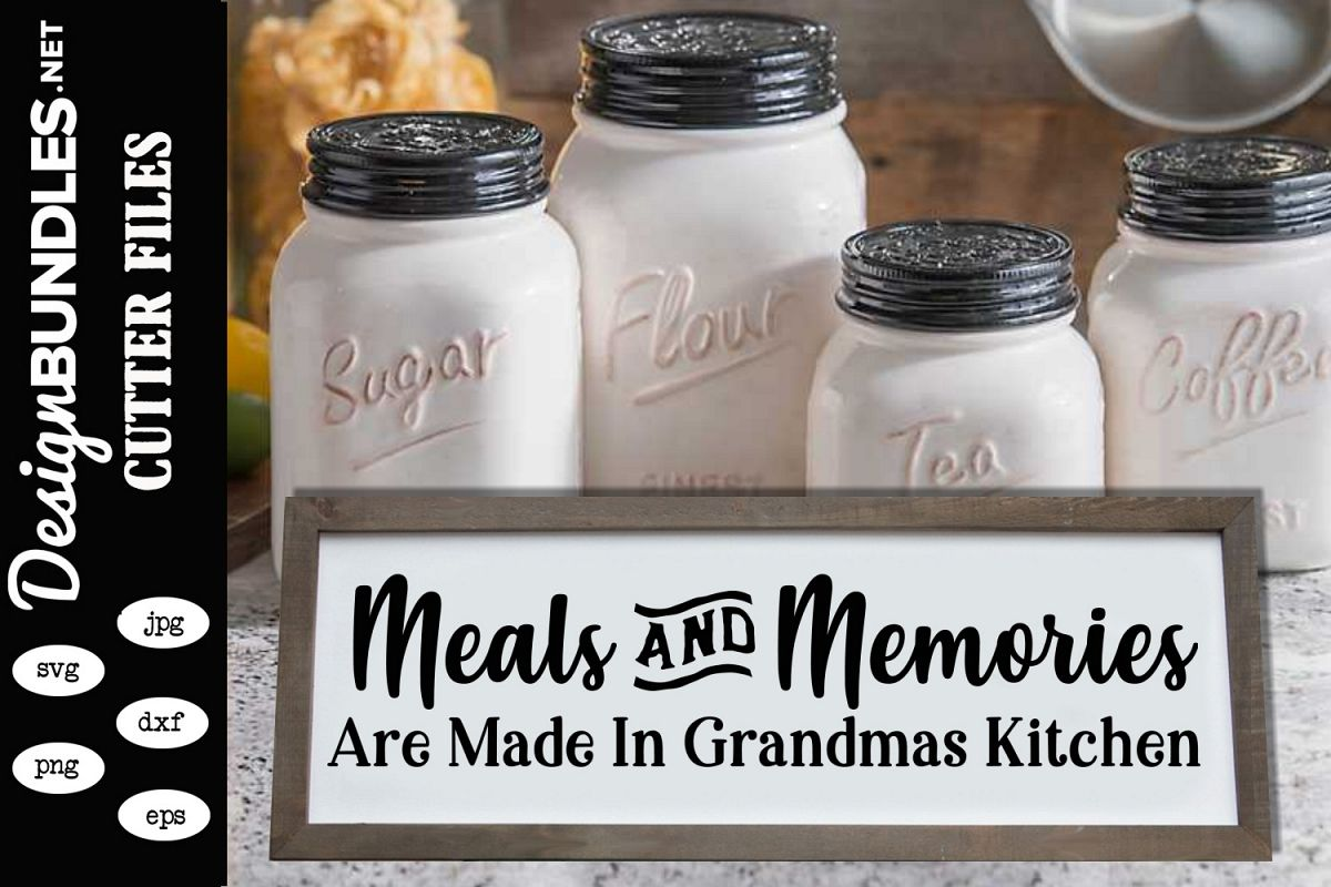 Meals and Memories SVG example image 1