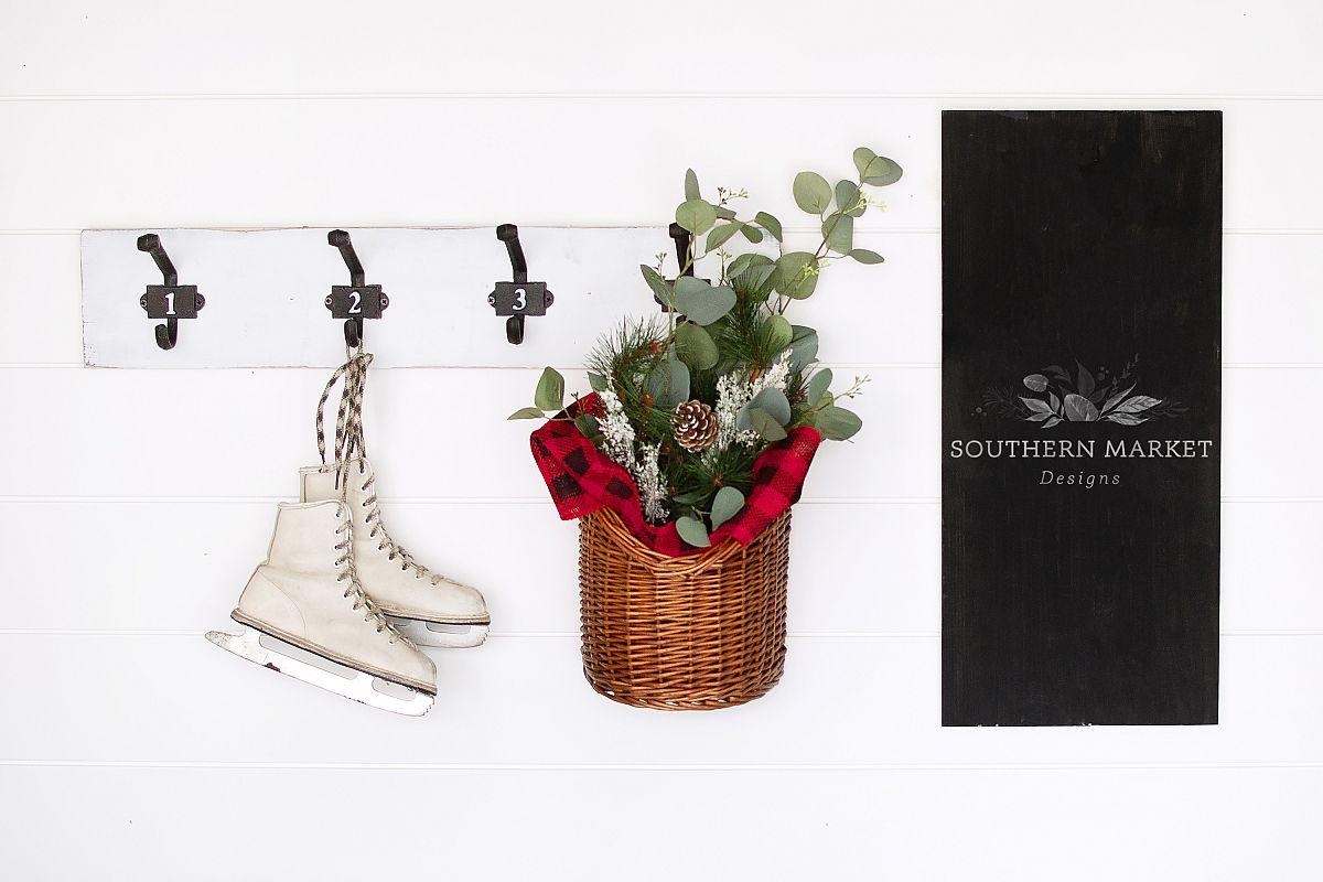 12x24 Christmas Wood Sign Mock Up Styled Photography example image 1