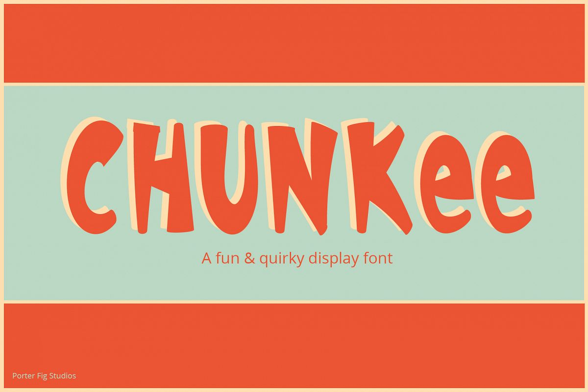 Chunkee Bold Handwritten Display Font example image 1