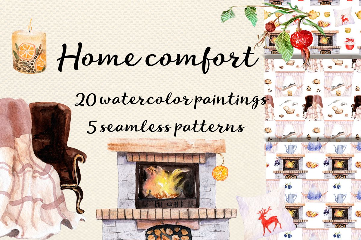 Watercolor Home comfort example image 1