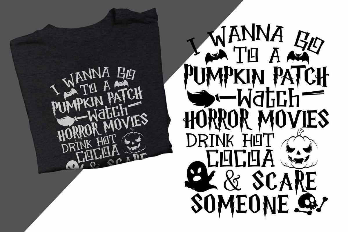 I wanna go to a pumpkin patch Halloween Printable example image 1