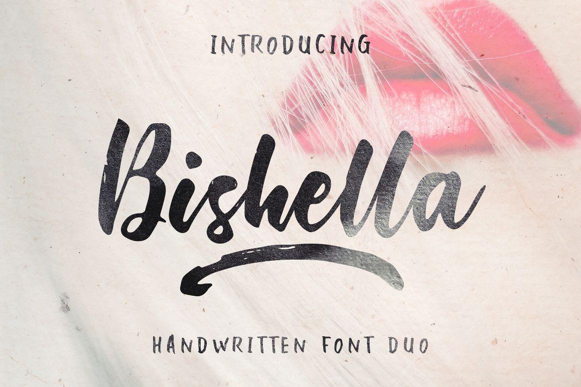 Bishella Script_Font Duo example image 1