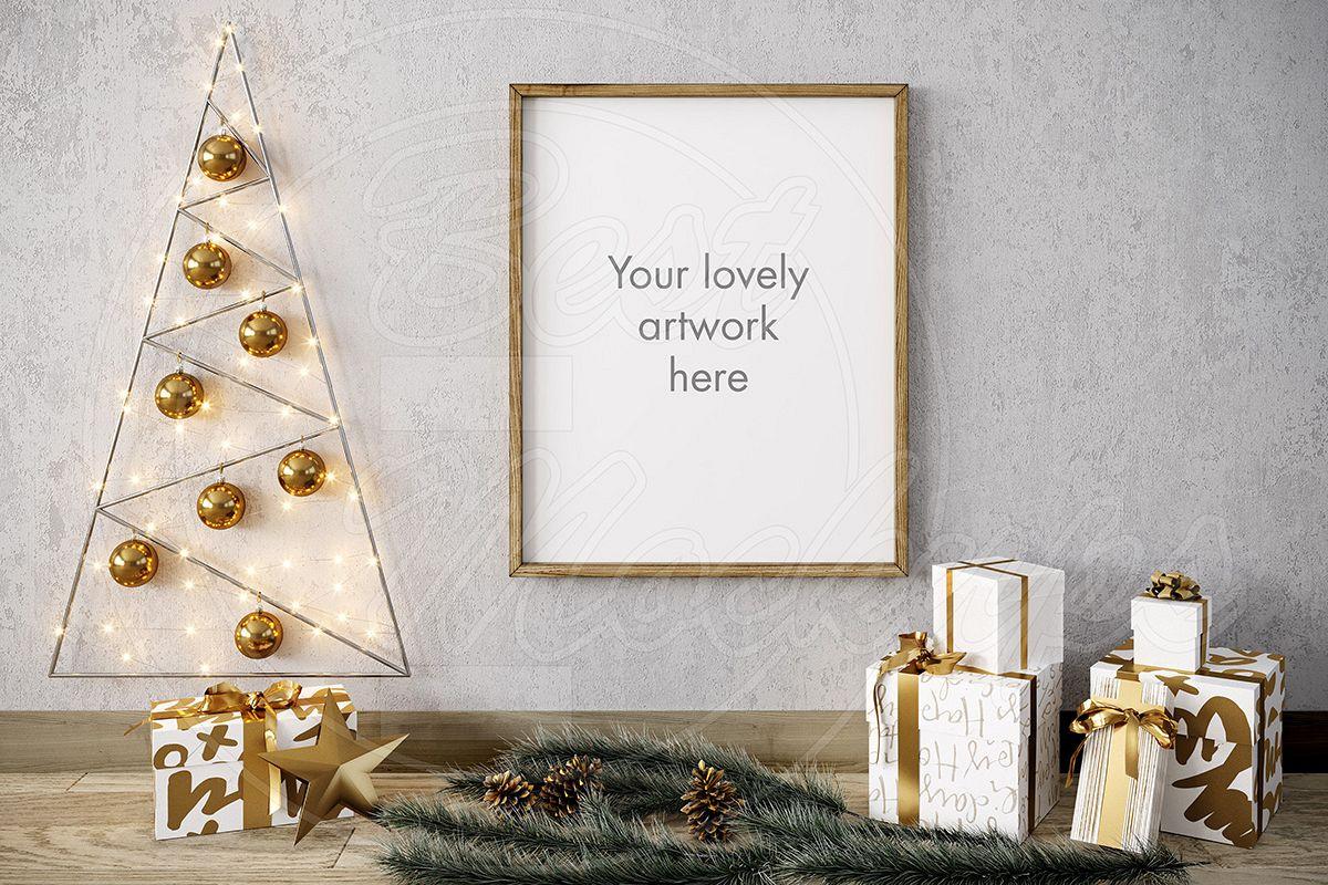 Merry CHRISTMAS mockup GOLD 8x10 example image 1