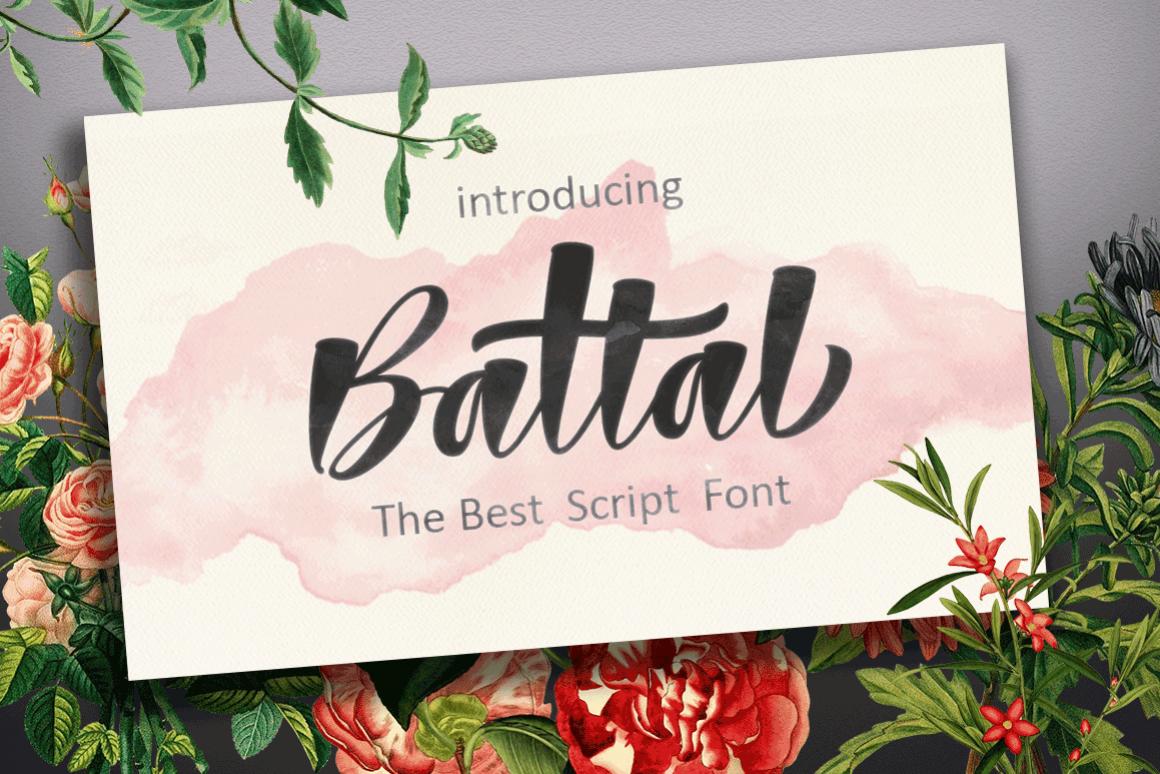 Battal Script Font example image 1